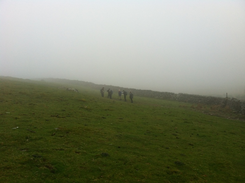 Walking in coastal mist - Rhinogs Trip 2014