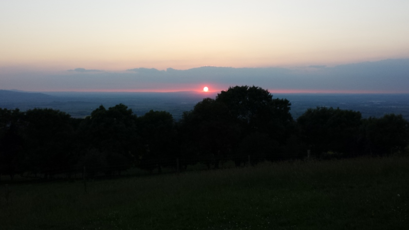 View from Broadway Tower  - Solstice Walk 2014